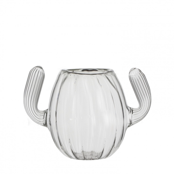 <h4>Glass Cactus tealightholder d10*18cm</h4>