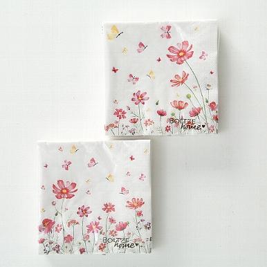 <h4>Napkins Cosmea, 20 p., 2 ass., Colour mix, Paper paper colour-mix</h4>