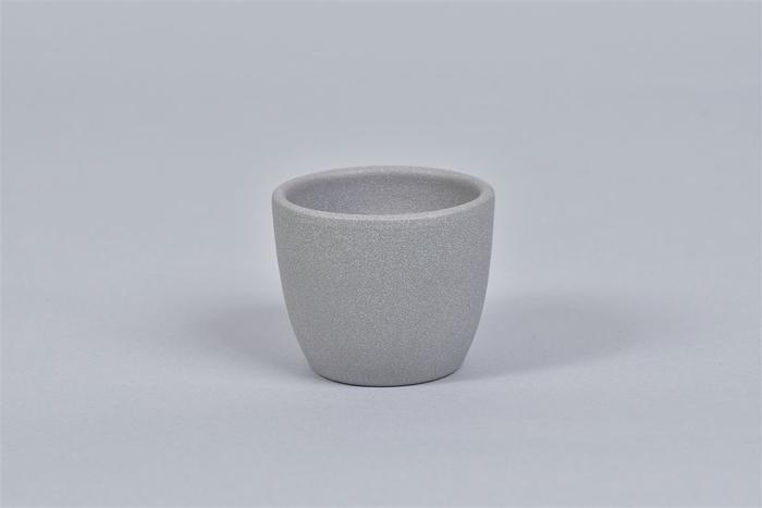 <h4>Keramiek Pot Grijs 7cm</h4>