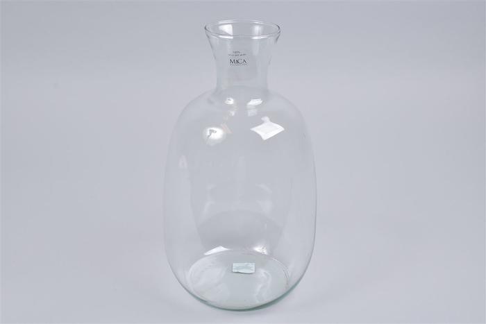 <h4>Glas Vaas Fles 21x37cm</h4>