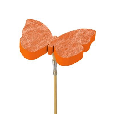 <h4>Pique papillon Fiber foam 7x7+50cm bâton orange</h4>