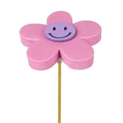 <h4>Pique fleur Happy foam 7+12cm bâton rose</h4>