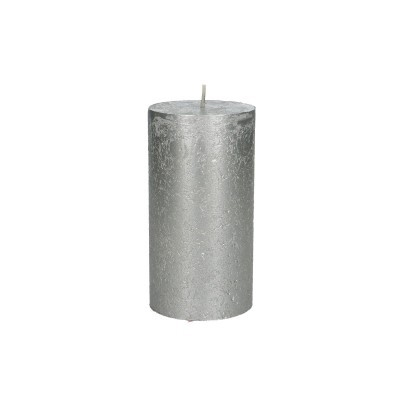<h4>Candle Cylinder metallic d07*13cm Rustic</h4>