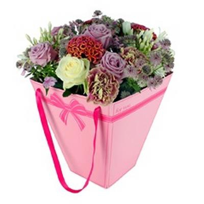 <h4>Bag Julia carton 24,5x13xH30cm pink</h4>