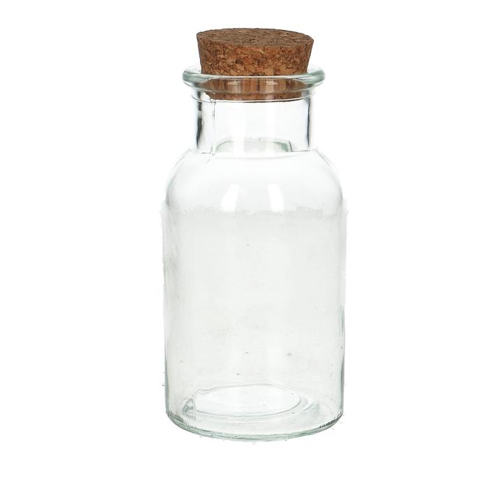 <h4>Glass Bottle+cork d6.5*13cm</h4>