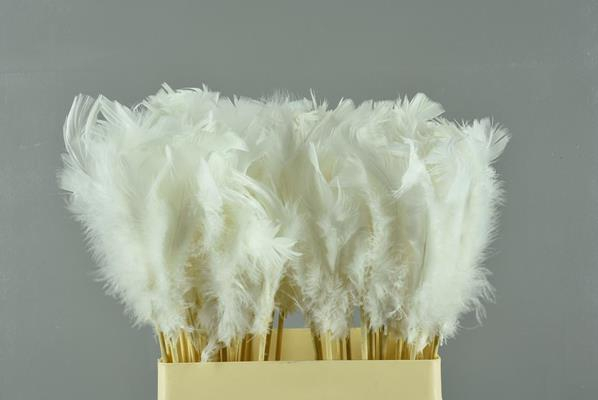 <h4>Stick Feather White 14cm</h4>