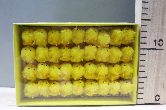 <h4>CHENILE CHICKENS YELLOW H4 36PCS 320211</h4>