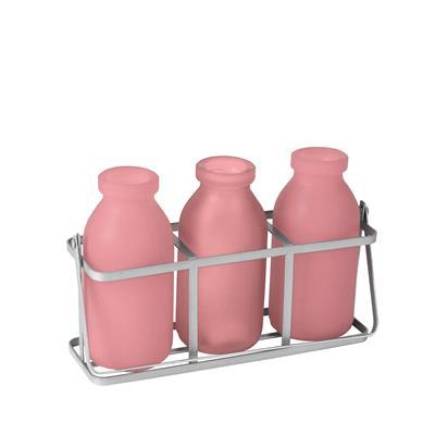 <h4>Rekje durban glas 3 flesjes roze</h4>