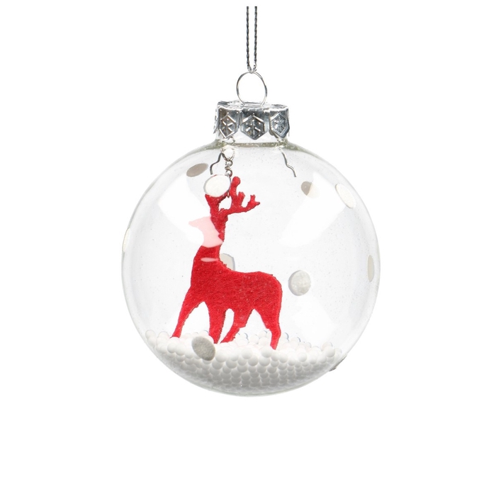 <h4>Christmas bauble Ball deco 80mm</h4>