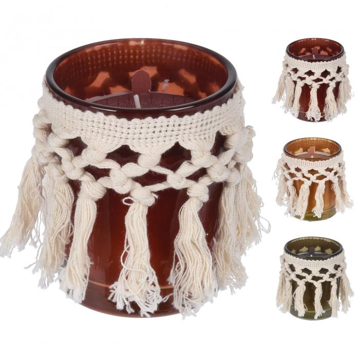 <h4>Candle Scent pot+rope d8*9cm ass</h4>