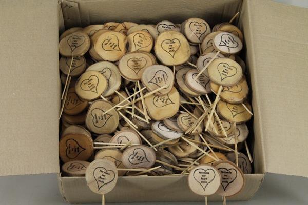 <h4>Stick Wooden Slice -you Make..</h4>