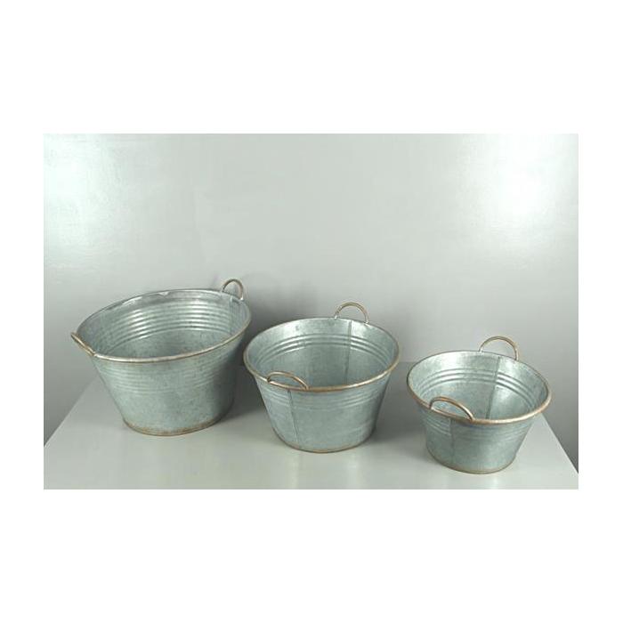 <h4>Planter Tub Zinc S/3</h4>