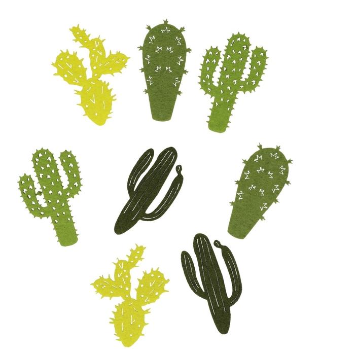 <h4>Decoratie Cactus vilt 7cm x16</h4>