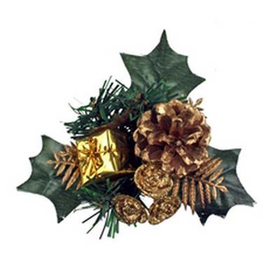 <h4>Noël toef paquet à fil 10cm or</h4>