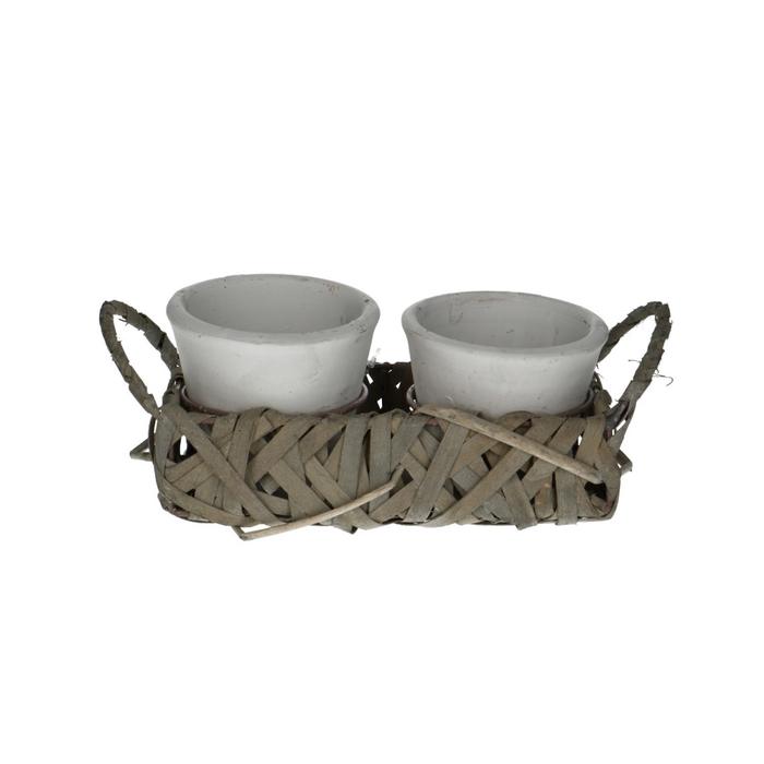 <h4>Ceramics Basket+2top d9*8cm</h4>