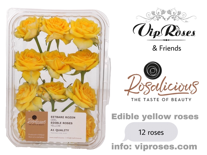 <h4>R Edible Rosalicious Yellow</h4>
