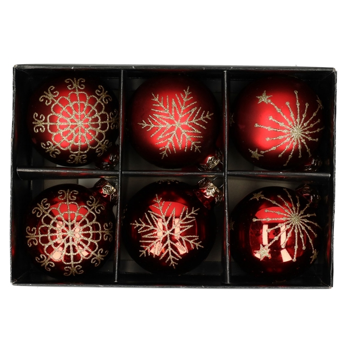 <h4>Christmas bauble Ball deco  75mm</h4>