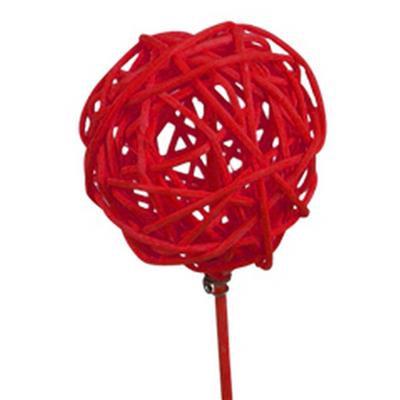 <h4>Pique Bruceball Ø5cm+bâton 12cm rouge</h4>
