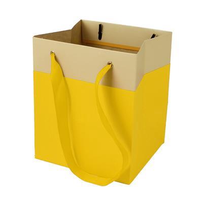 <h4>Bag Facile carton 12,5x11,5xH14,5cm yellow</h4>