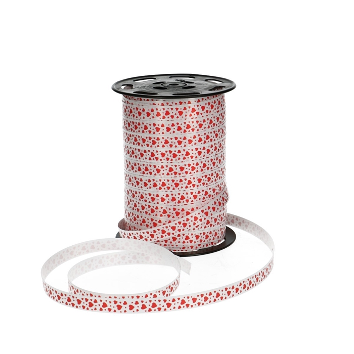 <h4>Love Curly ribbon 10mm 225m Hearts</h4>
