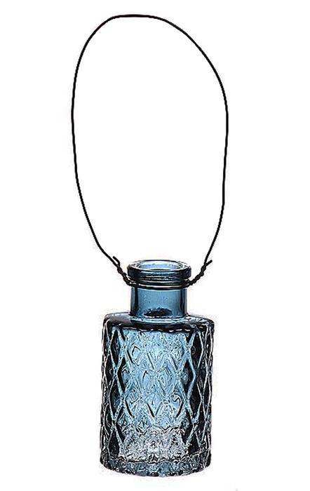 <h4>DF663032000 - Hanging bottle Louvre4 d5.1xh9.2 blue</h4>