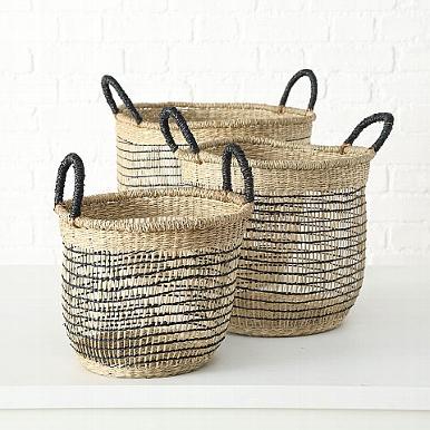 <h4>Basket  Naab, H 26 cm, D 30 cm, Seaweed, Colour mix Quantity in set: 1; seagrass colour-mix</h4>