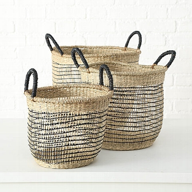 <h4>Basket  Naab, H 30 cm, D 35 cm, Seaweed, Colour mix Quantity in set: 1; seagrass colour-mix</h4>