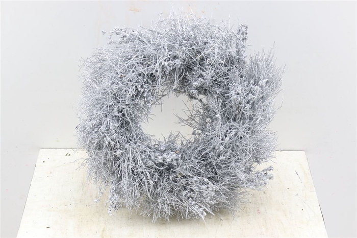 <h4>Krans Iron Grass Silver Glitter</h4>