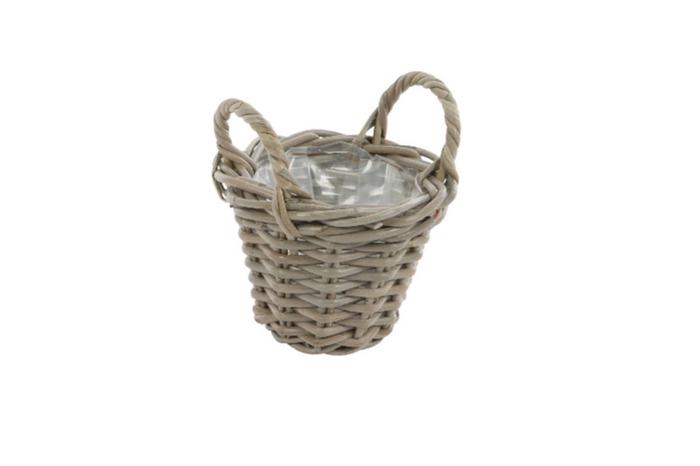 <h4>DF888000600 - Basket Petrey d18xh20 grey</h4>