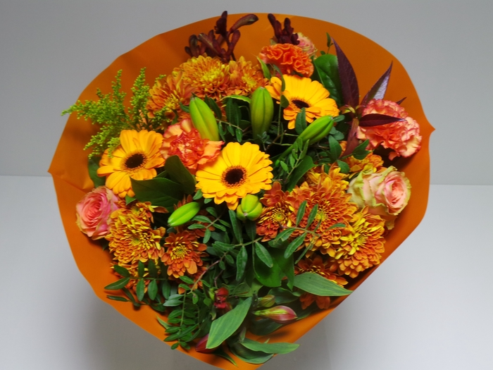 Bouquet Biedermeier Large Orange