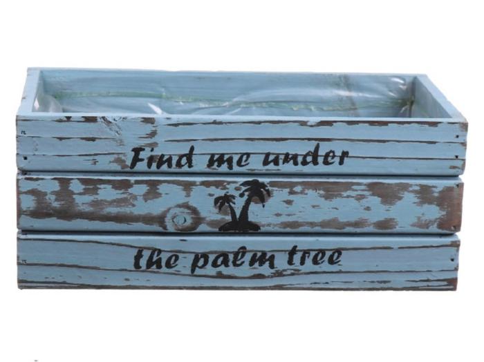 <h4>DF550092500 - Planter Armada2 25x13xh10 blue wash</h4>