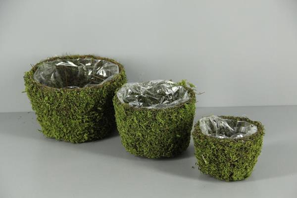 <h4>Planter Moss Round S/3</h4>