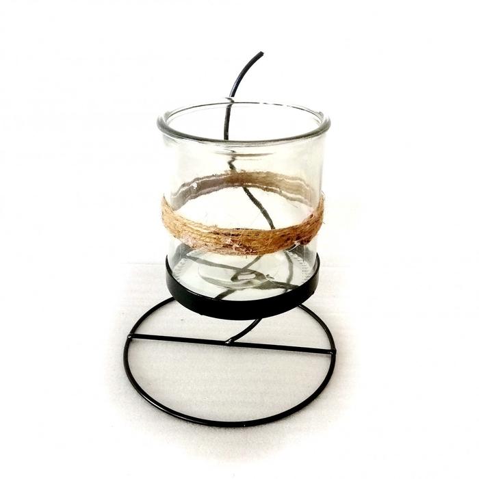 <h4>Candlelight Glass metal d19*26cm</h4>