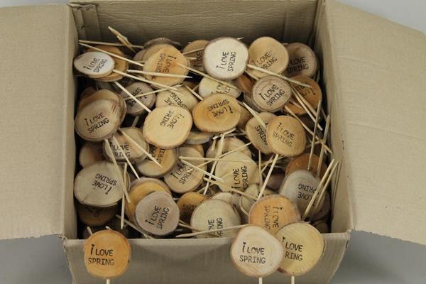 <h4>Stick Wooden Slice -i Love Spr</h4>