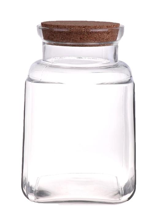 <h4>DF883568900 - Vase Renwick1 15x15xh37.5 clear + cork</h4>