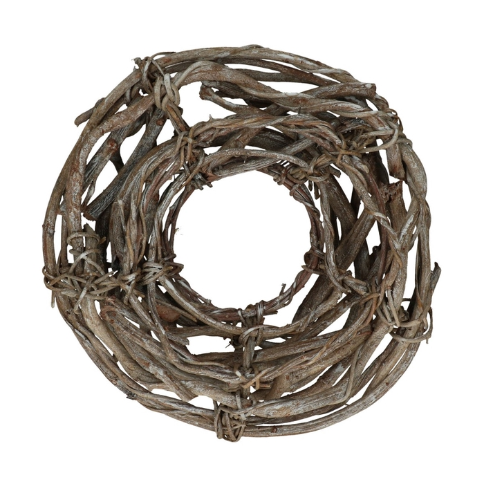 <h4>Wreath d38cm Angle vine open frosted</h4>