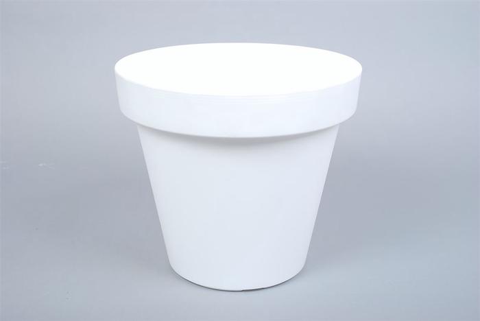 <h4>Kunststof Pot Wit Brede Rand 29cm</h4>