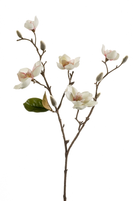 <h4>SILK MAGNOLIA SPRAY MINI 65CM CREAM/PINK 418436</h4>
