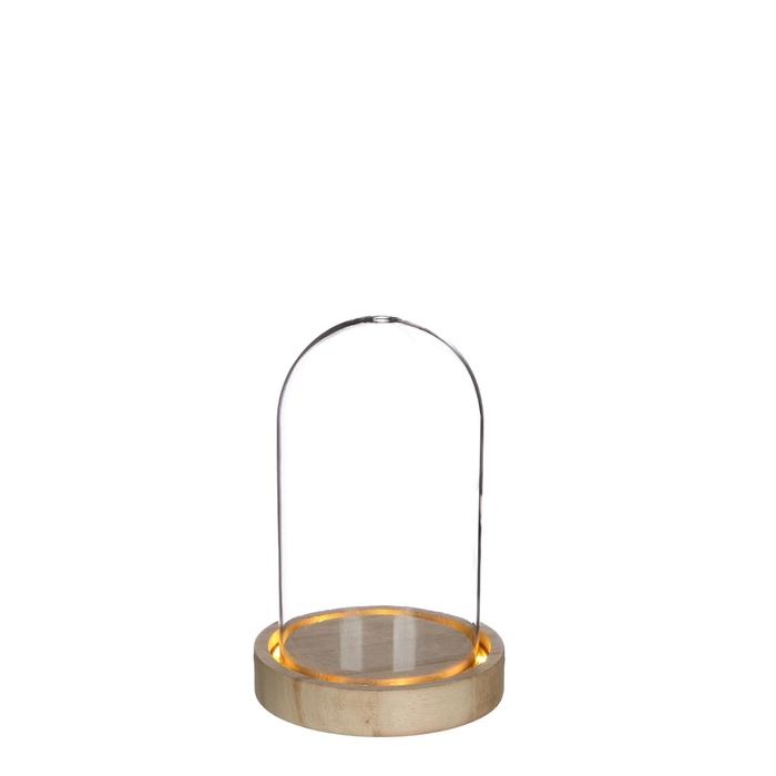 <h4>Glas LED stolp d10*15.5cm incl.batt.</h4>