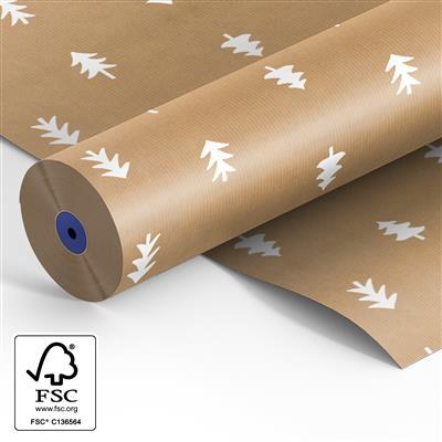 <h4>Papier sur rouleau 60cm br. kraft  Sapin de Noël</h4>