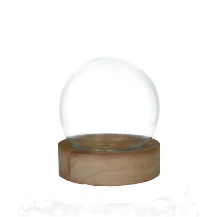 <h4>Glas Stolp+hout d13*12cm</h4>