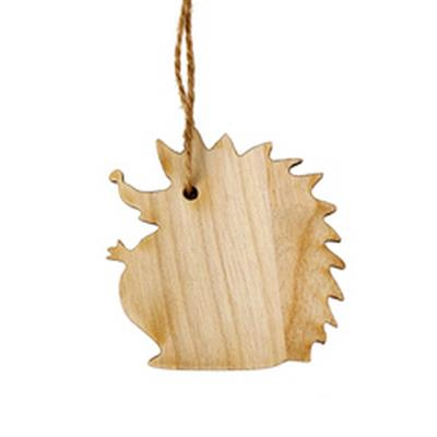 <h4>Hanger egel hout 6x6cm+16cm jute touw</h4>