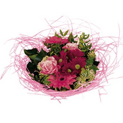 <h4>Bouquet holder woody Ø20cm pink</h4>