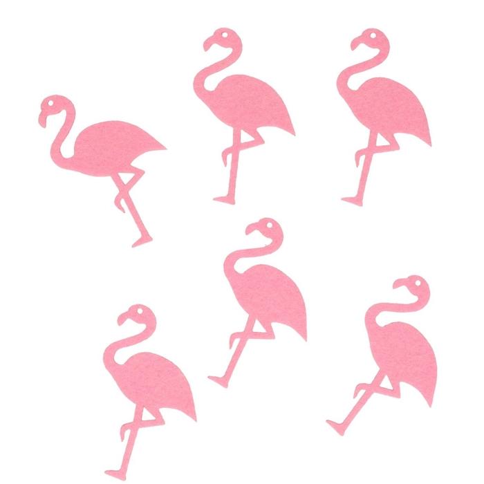 <h4>Decoratie Flamingo vilt 8.5cm x16</h4>