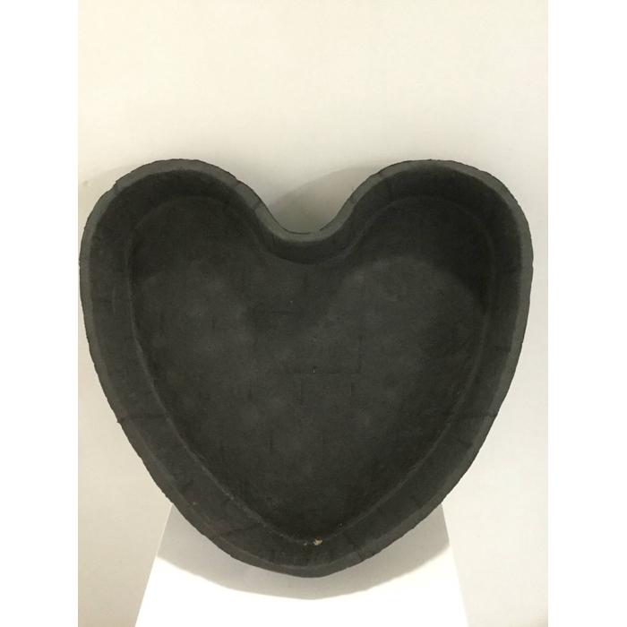 <h4>OASIS BLACK BIOLIT PLANTING HEART 34X36X6,5CM 1PC</h4>