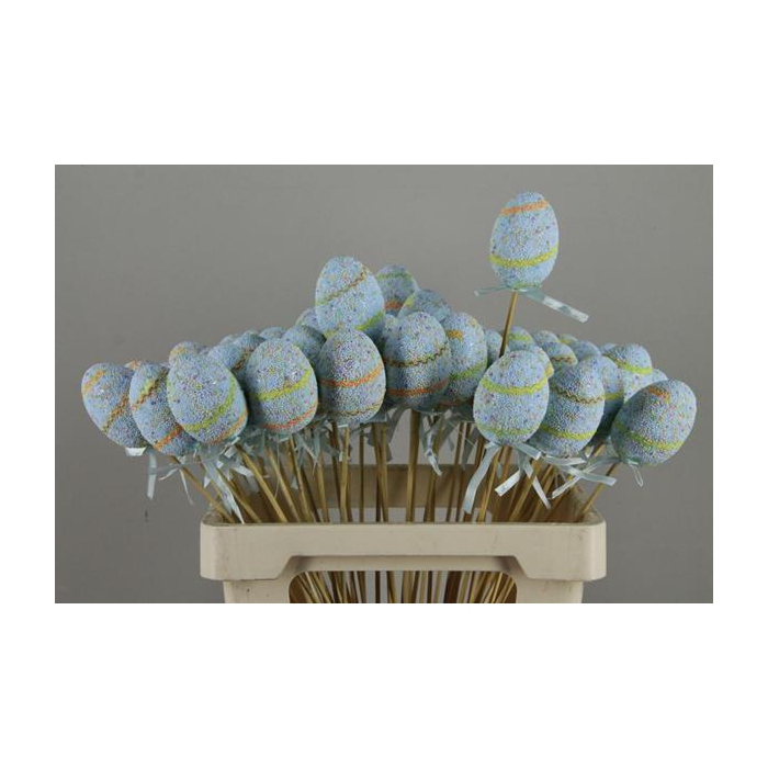 <h4>Stick Egg  Easter Party Blue</h4>