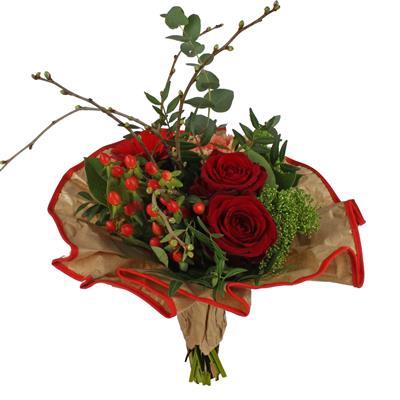 <h4>Bouquet cover Softline kraft Ø32cm red</h4>