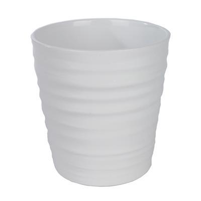 <h4>Pot en céramique Canberra Ø13x13cm blanc brillant</h4>
