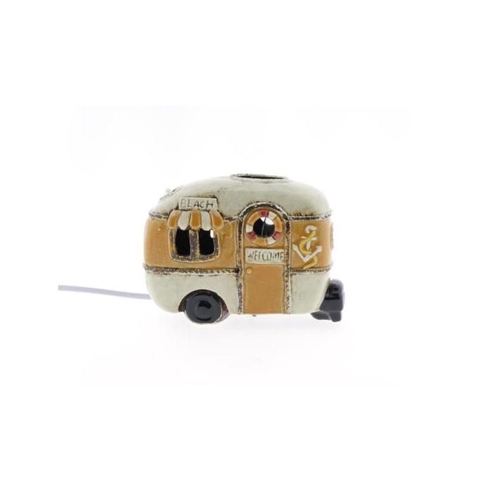 <h4>Lamp Ceramic Caravan 18cm Yell</h4>