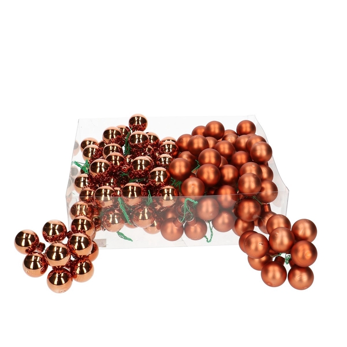 <h4>Christmas bauble Ball/wire 25mm combi x144</h4>